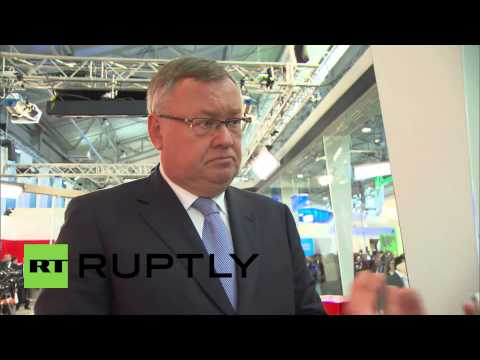 """Russia: Freezing of Russian assets """"political,"""" says VTB CEO Andrei Kostin"""