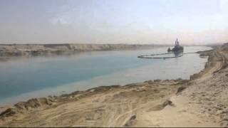 قناة السويس الجديدة القطاع الاوسط حفر وتكريك 1أبريل 2015