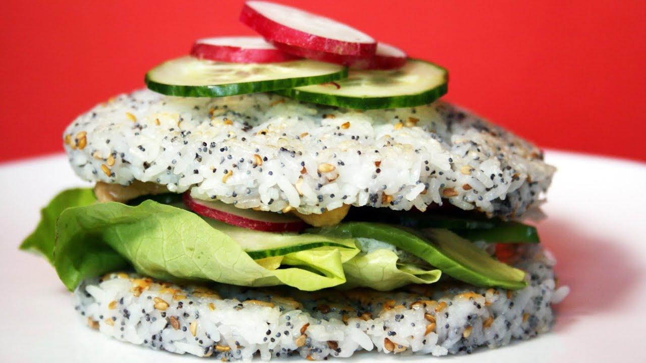 Préférence Sushi Burger poulet laqué avocat - YouTube WI18