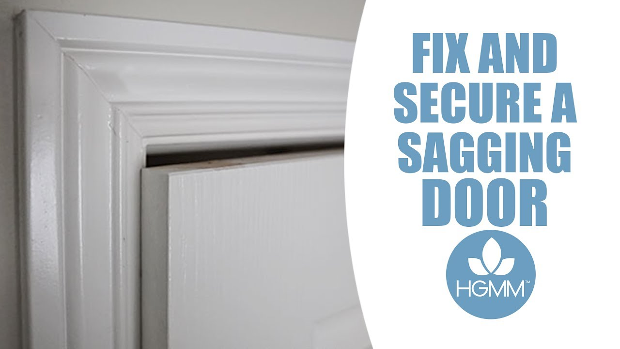 How To Fix A Sagging Door >> Secure And Repair A Sagging Door
