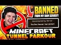 BANNED FROM MY OWN SERVER?! | Minecraft TUNNEL PARKOUR