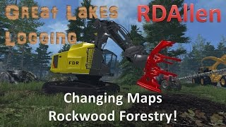 Farming Simulator 15 MP The Great Lakes - Changing Maps to Rockwood!