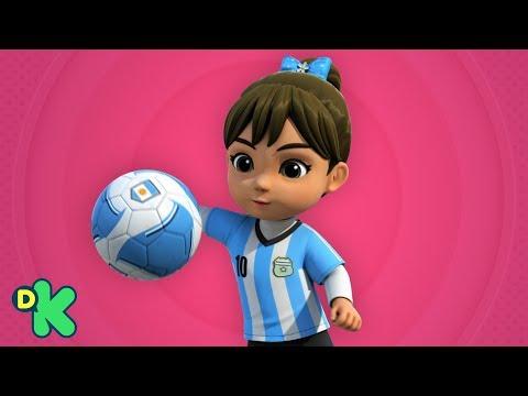 Uma partida de futebol na Argentina | Super Wings | Discovery Kids Brasil