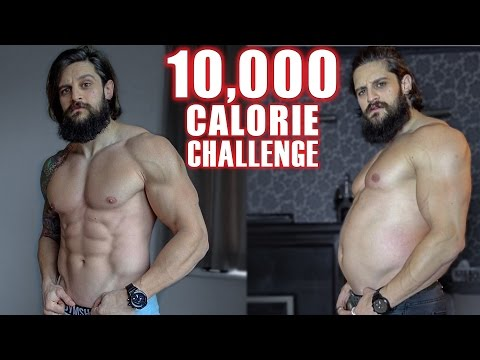 10,000 CALORIE CHALLENGE - 1 DAY Transformation  - EPIC CHEAT DAY