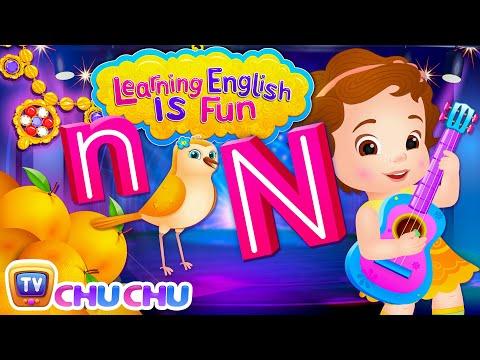Alphabet N Song | Learning English Is Fun™ | ChuChu TV Phonics & Words For Preschool Children