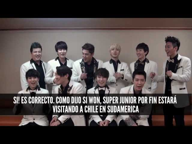 SALUDO OFICIAL SUPER JUNIOR - MUSIC BANK EN CHILE! Videos De Viajes