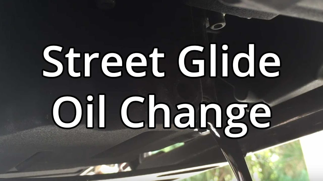 how to change harley davidson oil and filter on street glide