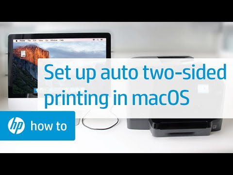 How To Automatically Print On Both Sides Of Paper On HP Printers From A Mac | HP Printers | HP
