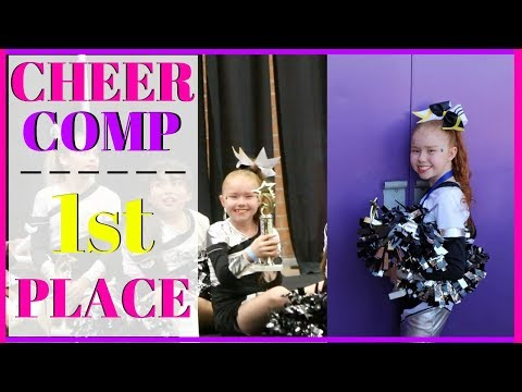 CHEERLEADING COMP: 1ST PLACE!