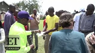 Kanye West, Kim Kardashian Visit Orphanage In Uganda