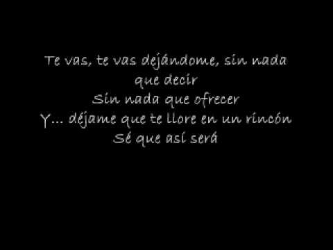 Warcry - El Mas Triste Adiós (Letra)