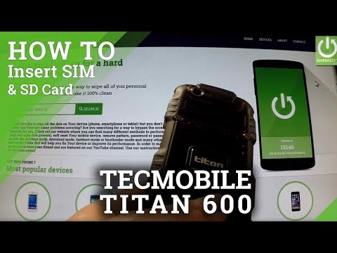 TECMOBILE Titan 600 - How to Insert SIM card and micro SD card in TECMOBILE