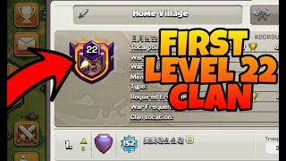 Clash Of Clans first ever LEVEL 22 clan world record(Hindi)sam1735