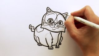 How to Draw a Cartoon Pig the Cat from the Movie HOME - zooshii Style