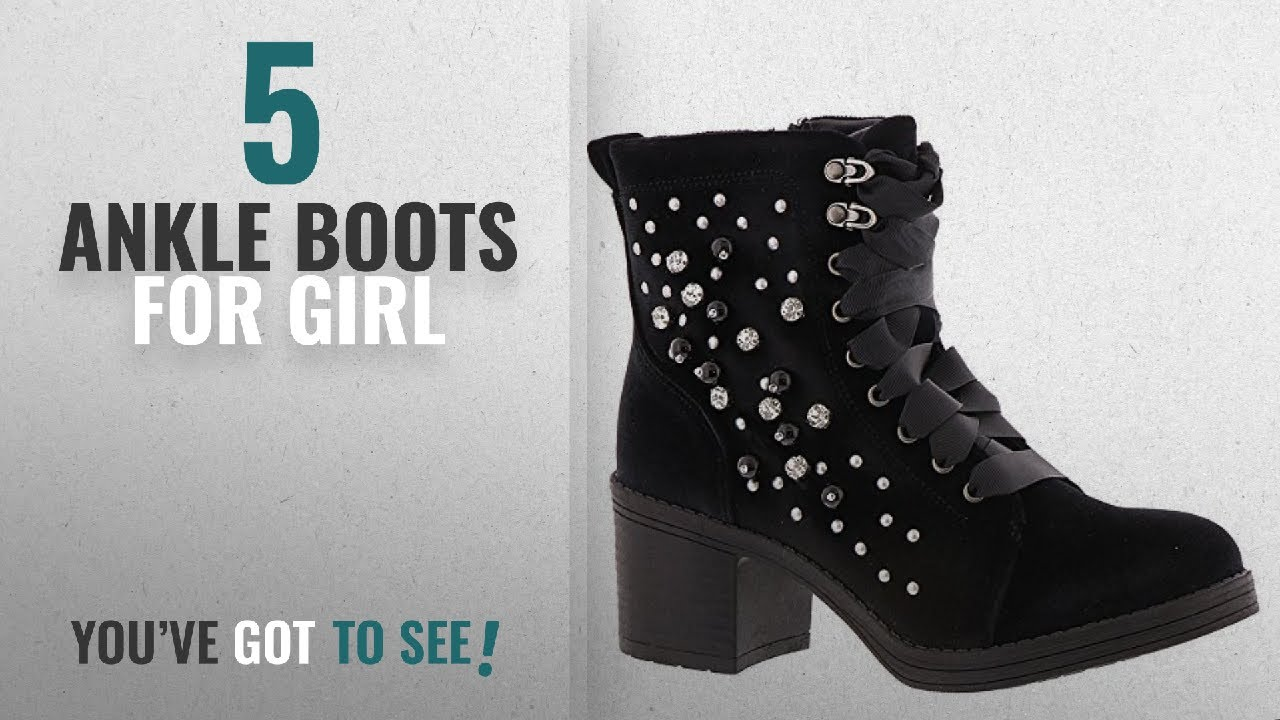 93a40acbab4 Top 5 Ankle Boots For Girl [2018]: Madden Girl Women's Veera Combat Boot,  Black Velvet, 8 M US