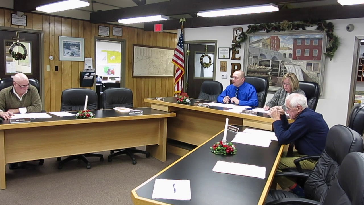 Peru Town Board Organizational Meeting  1-2-18