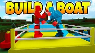 Build a Boat WORKING ROCK EM SOCK EM ROBOTS! (THEY FIGHT!) | Roblox