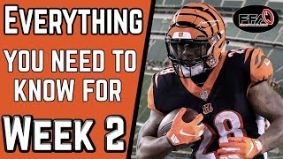 EVERYTHING You NEED to KNOW Before Week 2 - 2019 Fantasy Football