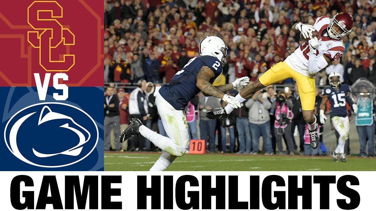 #9 USC vs #5 Penn State | 2017 Rose Bowl Highlights | 2010's Games of the Decade