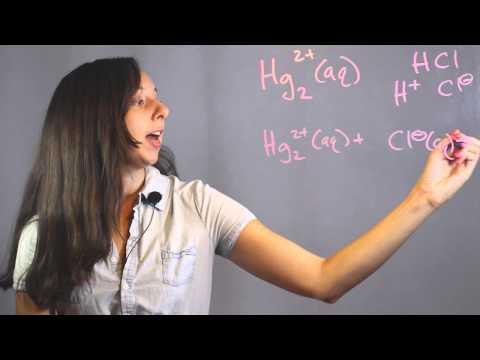 Net Ionic Equation For Reaction Of Aqueous Mercury & Hydrochloric Acid : Chemistry Lessons