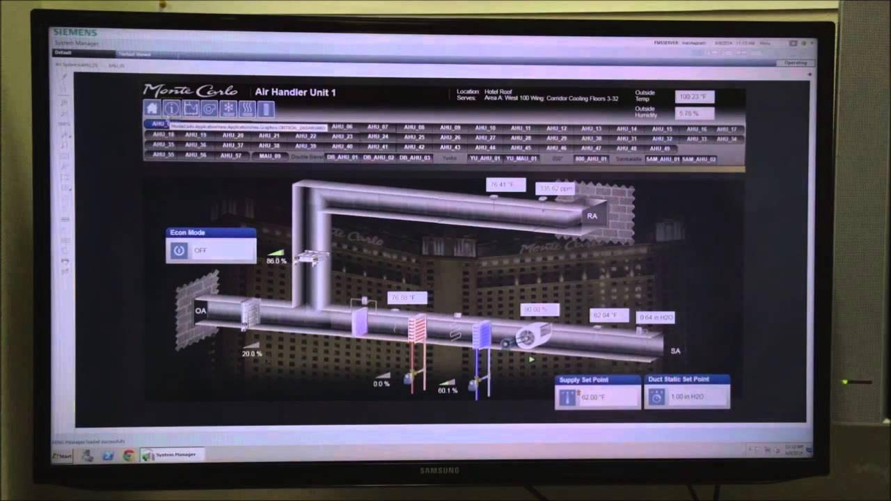 Siemens Desigo Cc Platform For Talon Sander Mechanical