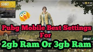 Pubg mobile best lag free hd config for 2gb ram