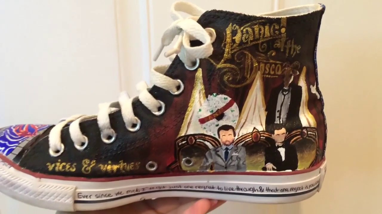 Panic At The Disco Hand Painted Shoes Youtube