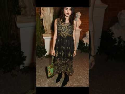 Frances Bean Cobain showcases edgy glamour as she parties with mother Courtney at Dazed magazine
