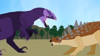 Dinosaurs Cartoons Battles: Utahraptor vs Gastonia. Динозавры Мультфильм DinoMania