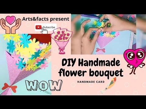 DIY flower bouquet handmade card