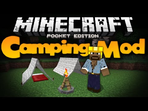 CAMPING MOD FOR MCPE!!! - Adds Tents, Campfires, And Sitting Logs - Minecraft Pocket Edition