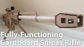 Cardboard Sniper Rifle | Tutorial In Description