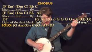 Blackbird (The Beatles) Banjo Cover Lesson with Chords/Lyrics