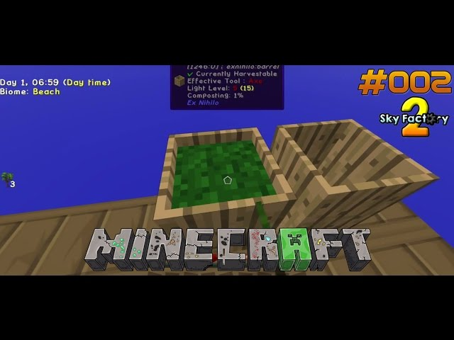 Let's Play Minecraft Sky-Factory 2 | Dirt-Produktion angekurbelt | Folge #002