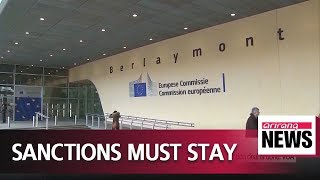 EU firm that sanctions on North Korea must remain until denuclearization deal is done