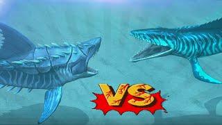 Megalodon Vs Mosasaurus - Biggest Sharks Battles | Jurassic World The Game