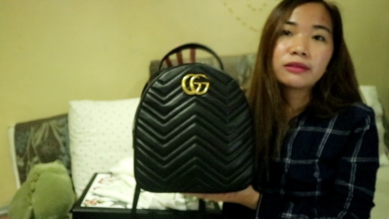 4fa3fc46b9b GUCCI GG MARMONT BACKPACK review - YouTube