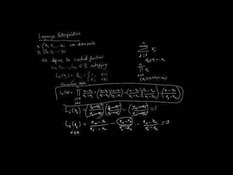 Interpolation - Lagrange Polynomials