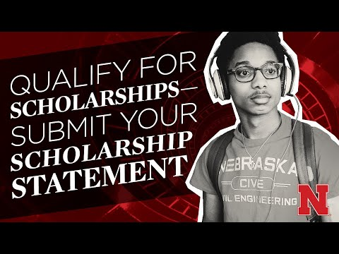 Qualify for Scholarships–Submit your Personal Statement