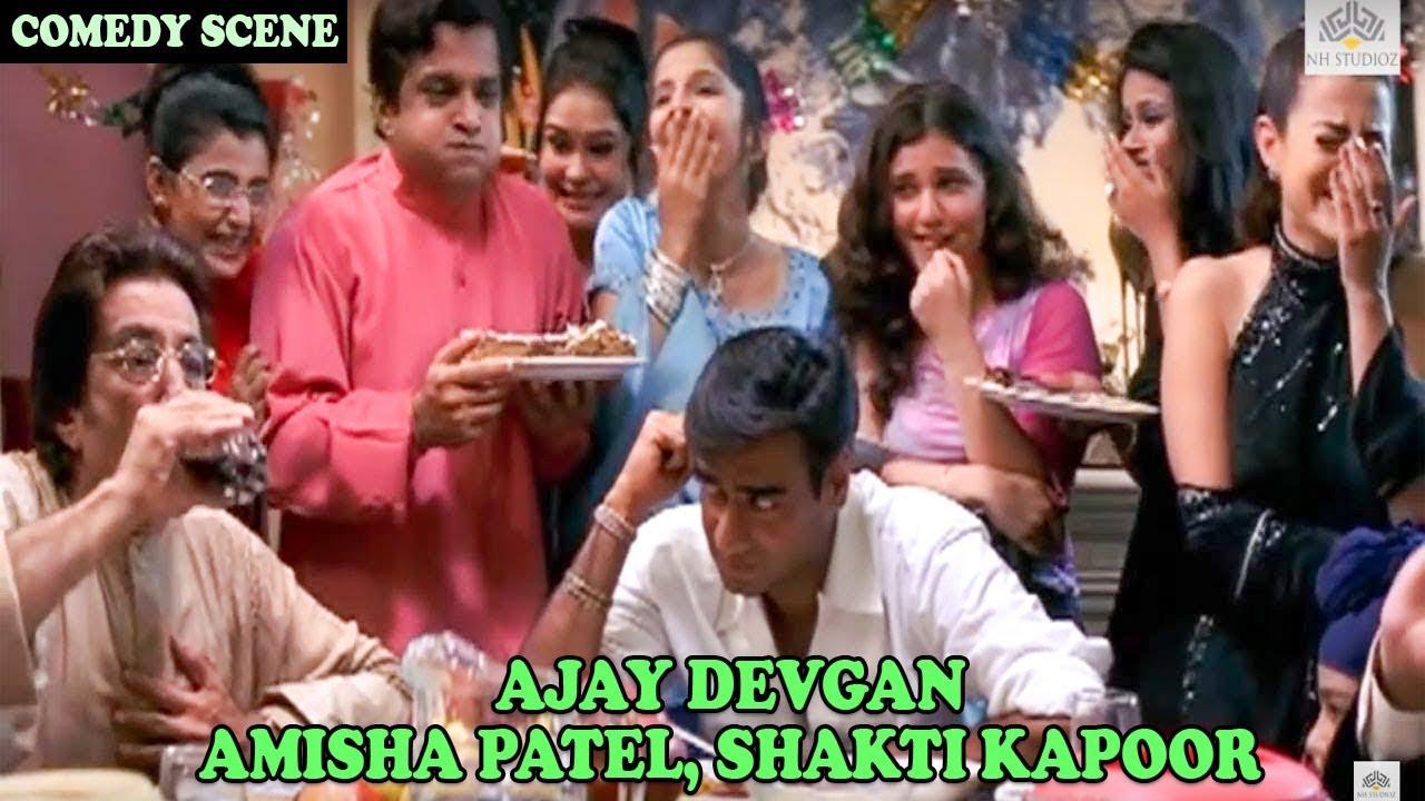 Ajay Devgan, Amisha Patel, Shakti Kapoor Comedy Scene   Zameer: The Fire Within 2005 Movie