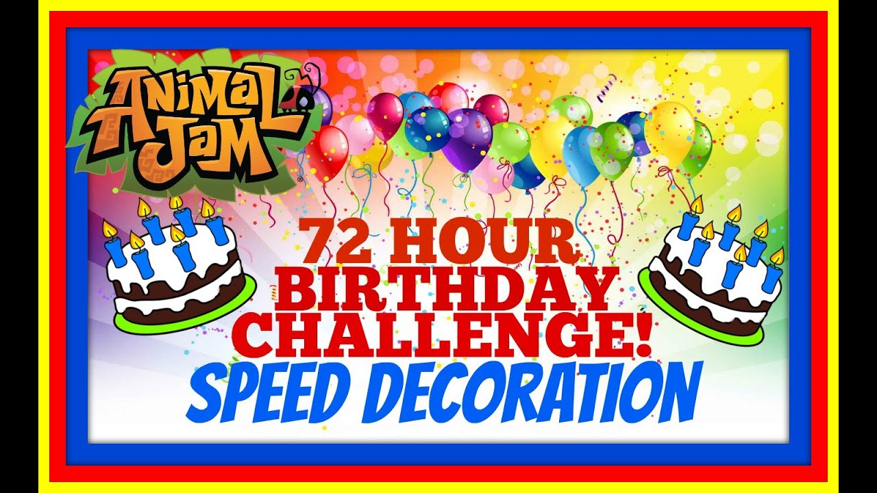 Download AJBDAY CHALLENGE: Speed Decorating A Birthday Party For Animal Jam!