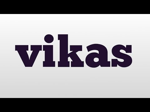 vikas meaning and pronunciation