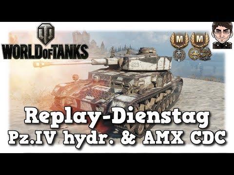 World of Tanks - Pz.Kpfw. IV hydrostat. & AMX CDC, Premium Panzer mit Erfolg  [deutsch | Replay]