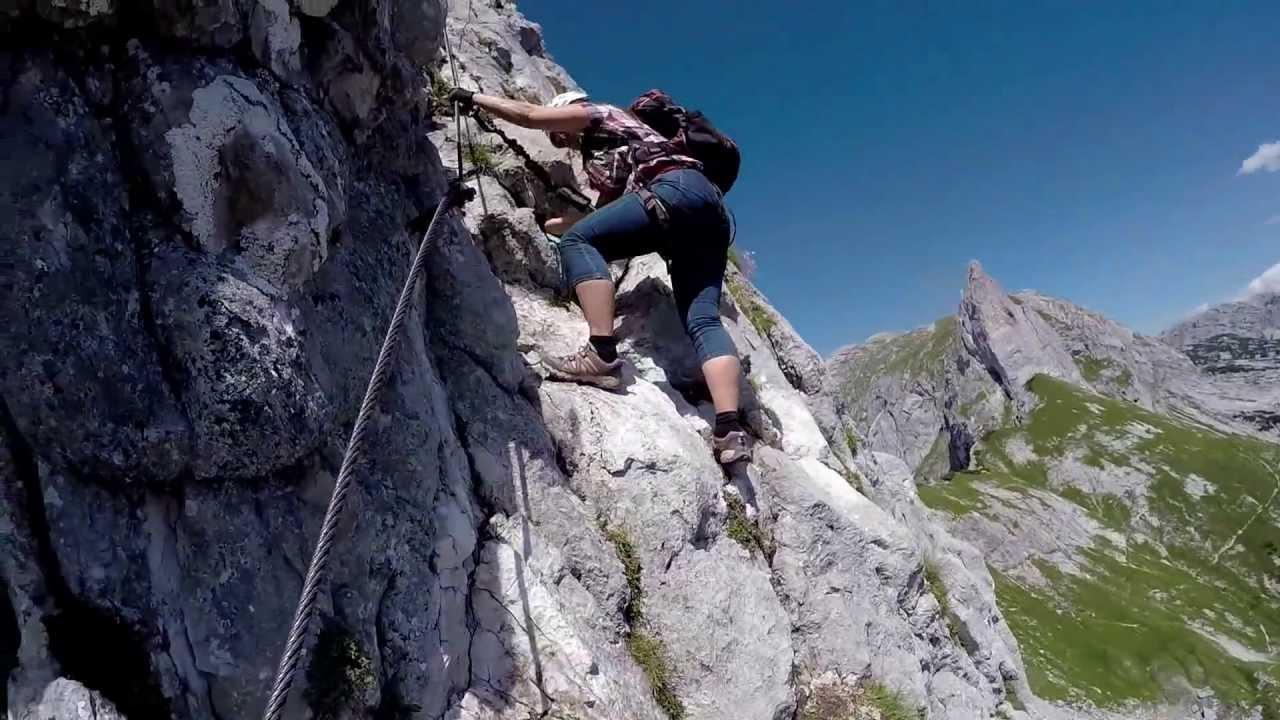 Klettersteig Rating : Gamsblick klettersteig auf den traweng totes gebirge tauplitz