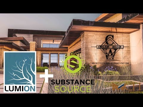 From Substance Source to Lumion: Real-time Archviz with