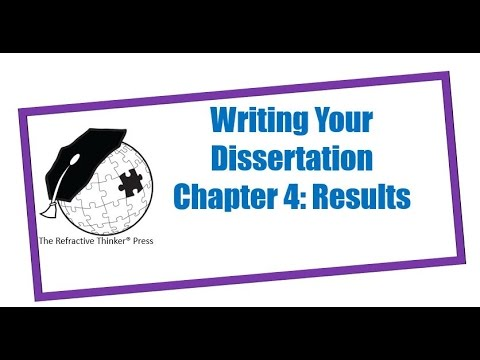 Writing the results section of a dissertation