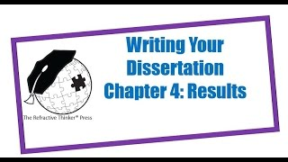 How to write up dissertation results
