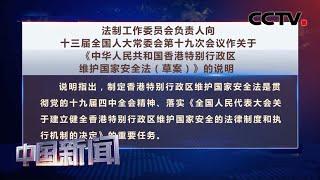[中国新闻] 法制工作委员会负责人向十三届全国人大常委会第十九次会议作关于《中华人民共和国香港特别行政区维护国家安全法(草案)》的说明 | CCTV中文国际