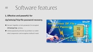 Introduce leading ZIP password recovery tool  how to recover forgotten ZIP file password