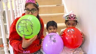 Learn Color with Balloons and Fun Play with Family